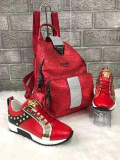 💥New Blingy GUESS Back-Packs💥                            ➕       💥Blingy Versace Sneakers💥