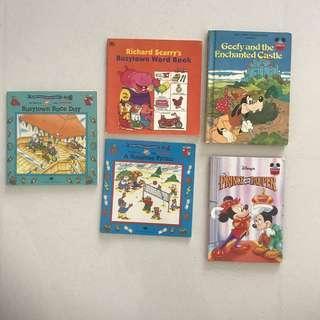 Disney & Richard Scarry books