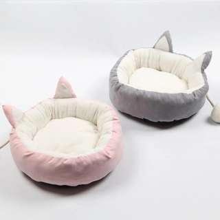 Japan Kitty Pet Bed (Pink/Gray)
