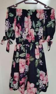 🚚 Floral Off Shoulder Dress