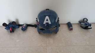 🚚 Captain America helmet set with detachable parts