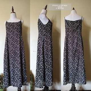 Printed String Maxi Dress