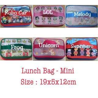 🚚 New customised personalised lunch bag lunchbox school bag lol tayo unicorn superheroes batman spiderman avengers