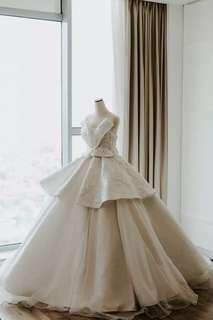 Bow Premium Designer Wedding Gown + Veil
