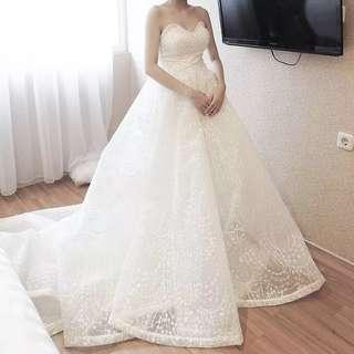 2 Ways Wear Premium Designer Wedding Gown (Mermaid & Ball Gown) (include bolero + veil)