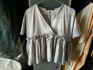 Blouse grey Shopataleen