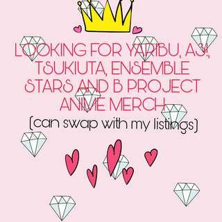 LOOKING FOR ANIME MERCH