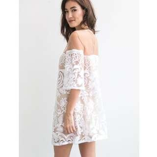 Price reduced BNWT Saints Secrets White Lace Mesh Dress