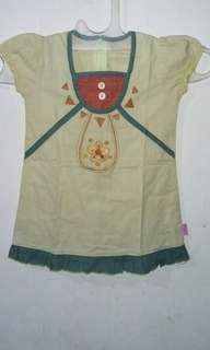 Dress kuning 6M-18M. LD. 56
