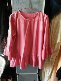 #paydaymaret Pink blouse ruffle