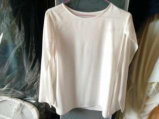 White cape blouse panjang