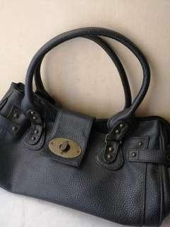 Women's Black Faux Leather Handbag