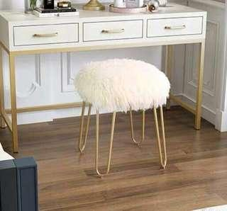 Furry Stool Chair