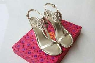 Tory burch miller wedges 60mm  Gold size 7 9