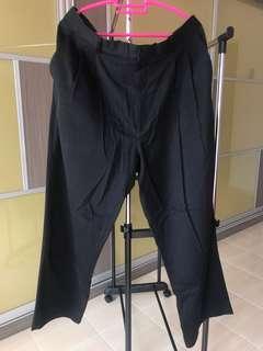 Office wear black slack pants