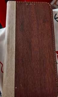 iPhone X木紋插卡手機套