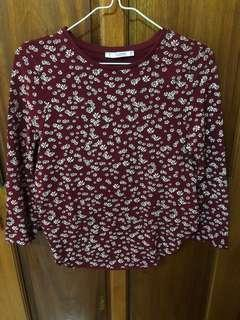 Pull and bear floral blouse