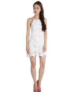 🚚 TTR jen crochet dress in white