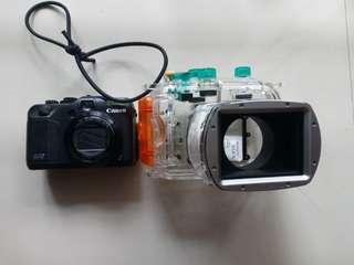 Canon G12 with canon underwater housing