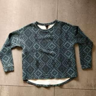 H&M Teal Textured Sweater