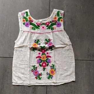 Embroidered Floral Sleeveless top
