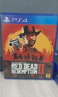Red Dead Redemption II Original Kaset Games PS4 (DLC belum dipakai)