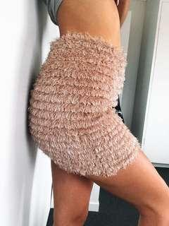 Fluffy mini skirt