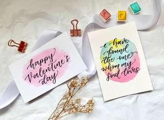 🚚 Calligraphy valentine's day Cards