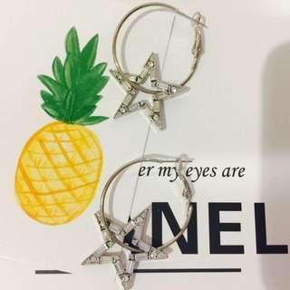 🚚 現貨+預購* 韓國氣質星星耳環 純銀耳環