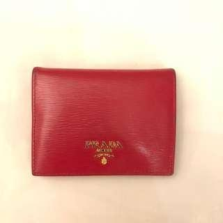 Authentic preloved prada mini wallet
