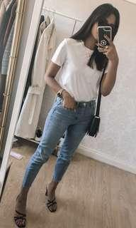 Topshop straight leg jeans in light wash