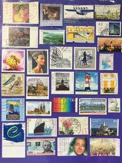🚚 Germany Deutschland 31 pcs Used Stamps