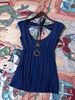 Delia's Navy Blue Sexy Back Tops/ S-M