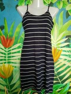 Cotton On Striped Navy Blue Dress