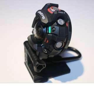 Casio action camera with accessories