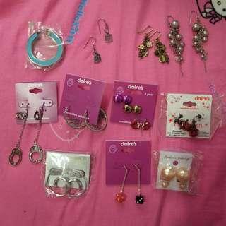 100% new earrings $10-$35
