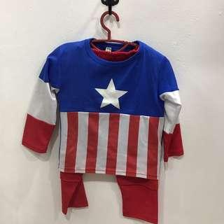 Captain America costume kids