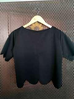 Black Scallop Top