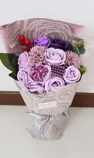 Soap Flower Bouquet / Roses / Carnation - Valentine Day / Valentine's Day / Proposal / Birthday / Farewell