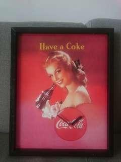 Wooden Coca Cola Clock