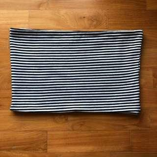 Topshop Stripe Bandeau Tube Top