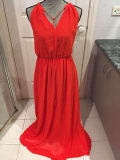 Red maxi dress cocktail formal