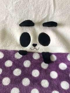 Panda Travel Blanket for Baby and Kids