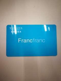 Franc franc gift card