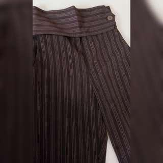Brown stripe pants