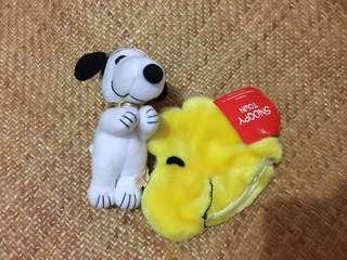 日本Snoopy公仔匙扣+ Woodstock散紙包一套
