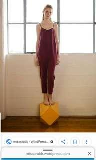 Penny sage deep red jumpsuit
