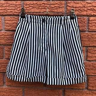 American Apparel striped shorts