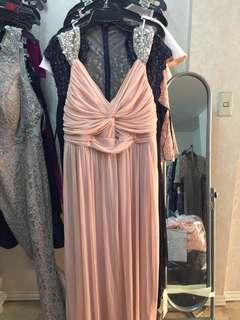 New pink plus size gown 20