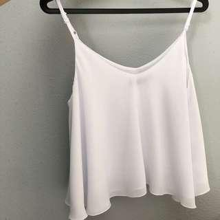 Cotton On White Spag TOP
